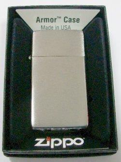 画像1: ☆生産終了 スリムアーマー!フラットトップ Slim Armor Brushed Chrome 2010 Zippo!新品