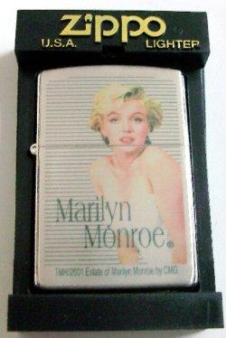画像1: ☆マリリン・モンロー!Marllyn monroe 2001年 銀加工 ZIPPO!新品A