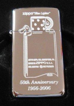 画像1: ☆スリム 誕生50周年記念!1956-2006 限定150個  SLIM ZIPPO!新品B