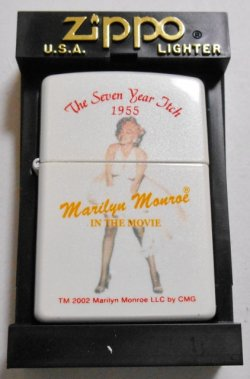 画像1: マリリン・モンロー!Marllyn monroe 2002年 ホワイトパール  ZIPPO!新品