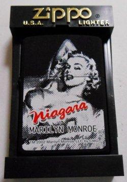 画像1: ☆マリリン・モンロー!Marllyn monroe 2002年 ナイアガラ 黒 ZIPPO!新品