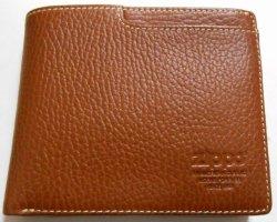 画像1: ☆ジッポー 革製!二つ折り財布 ブラウン・レザー ウォレット!新品A