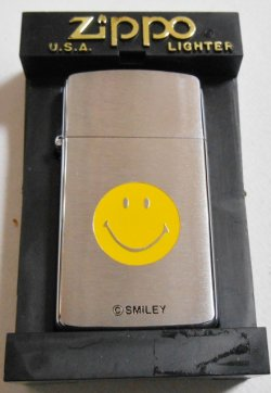 画像1: いつも・・ニコニコ!スマイリー SMILEY スリム 2000年 SLIM ZIPPO!新品