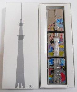 画像1: ☆東京スカイツリー!限定634セット 3個組 立体 TOKYO-SKYTREE 公認 ZIPPO!新品