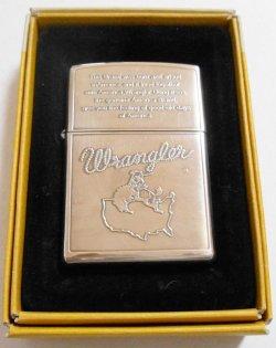 画像1: ☆ラングラー!ジーンズ・ブランド Wrangler 銀加工 2001年 ZIPPO!新品A