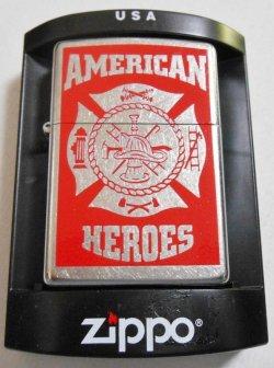 画像1: アメリカン・ヒーロー 消防!AMERICAN HEROES FIRE FIGHTER  2008年 ZIPPO!新品