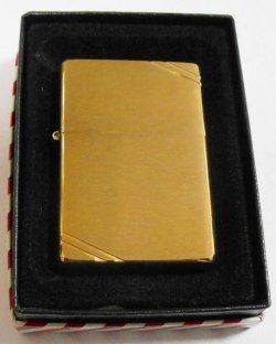 画像1: 1937 VINTAGEモデル!2000・XVI 真鍮 Brushed Brass Zippo!新品