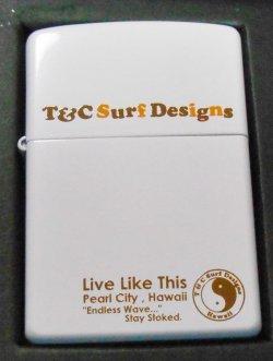 画像1: T&C タウン&カントリー!サーフブランド 2003年 ホワイト ZIPPO!新品