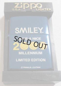画像1: ☆スマイリー SMILEY HAVE A NICE 2000 MILLENNIUM ブルーチタン ZIPPO!新品