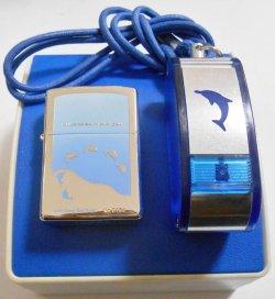 画像1: イルカ!DOLPHIN 限定セット!ドルフィン携帯灰皿付 2001年 ZIPPO!新品A