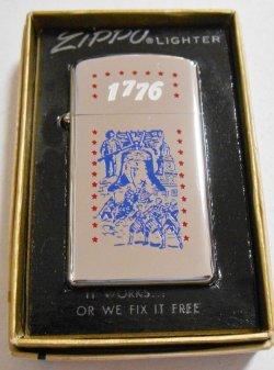 画像1: ☆1975年 VINTAGE 1776 アメリカ合衆国建国200年 Slim Zippo!未使用品