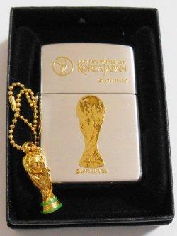 画像1: 2002年 FIFA WORLD CUP 日韓大会 三角カン&トロフィー付 限定ZIPPO!新品