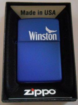 画像1: ☆ JT ウィンストン Winston  キャンペーン当選 ブルー艶消し  ZIPPO!新品