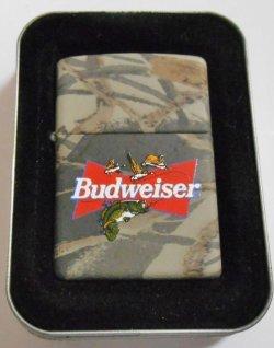 画像1: ☆バドワイザー!Budweiser Beer  REALTREE ブラックバス 2000年 ZIPPO!新品