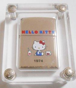 画像1: ☆HELLO  KITTY!限定 ハローキティ!誕生年1974デザイン サンリオ 2004年 ZIPPO!新品
