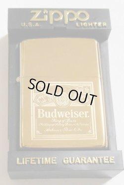 画像1: ☆バドワイザー!1992年 Budweiser Beer Solid Brass 鏡面 ZIPPO!新品
