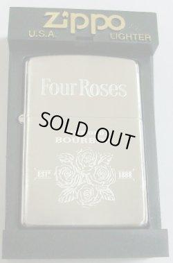 画像1: ☆Four Roses!フォアローゼス バーボン シルバー加工 2001年 ZIPPO!新品