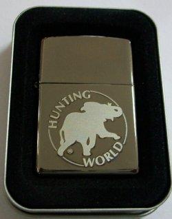 画像1: HUNTING WORLD!ハンティング・ワールド BATTUE ブラックアイス ZIPPO!新品