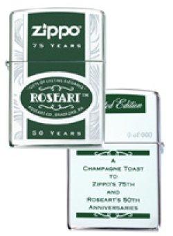 画像1: ROSEART 50周年&ZIPPO 75周年 コラボ・シャンペン 2007年 ZIPPO!新品