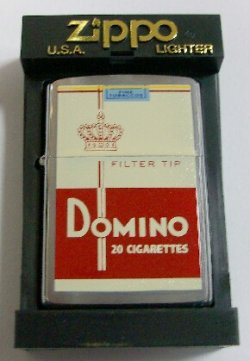 画像1: 珍品!世界のたばこデザイン DOMINO 2000年 ZIPPO!新品
